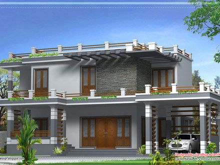February kerala home design and floor plans parapet also others rh pinterest