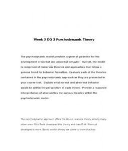 psychodynamic model of abnormality