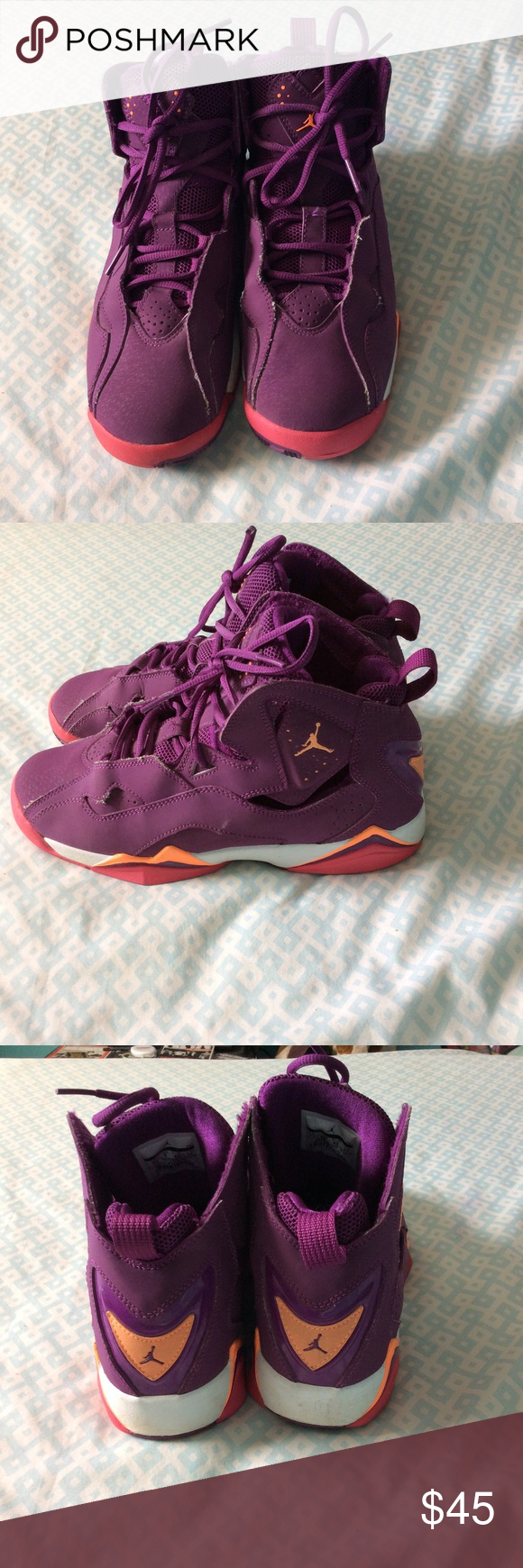 best authentic 96d77 f7cbc Air Jordan 7 They are purple , pink   orange . Are perfect for someone who
