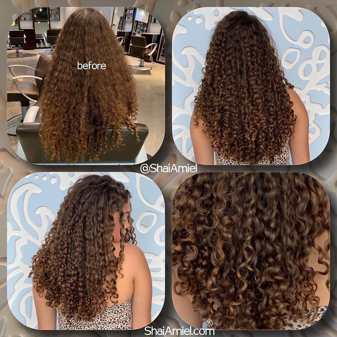 """Love this before and after by @shaiamiel at @capellasalon ! """"The longer the hair, the longer it's been on your head. That means it endured more years of wear & tear. This applies to even healthy hair.  Keeping ends blunt will reduce tangles, single strand knots & excess amount of split ends. It's best to trim ever 3-4 months. It will be"""