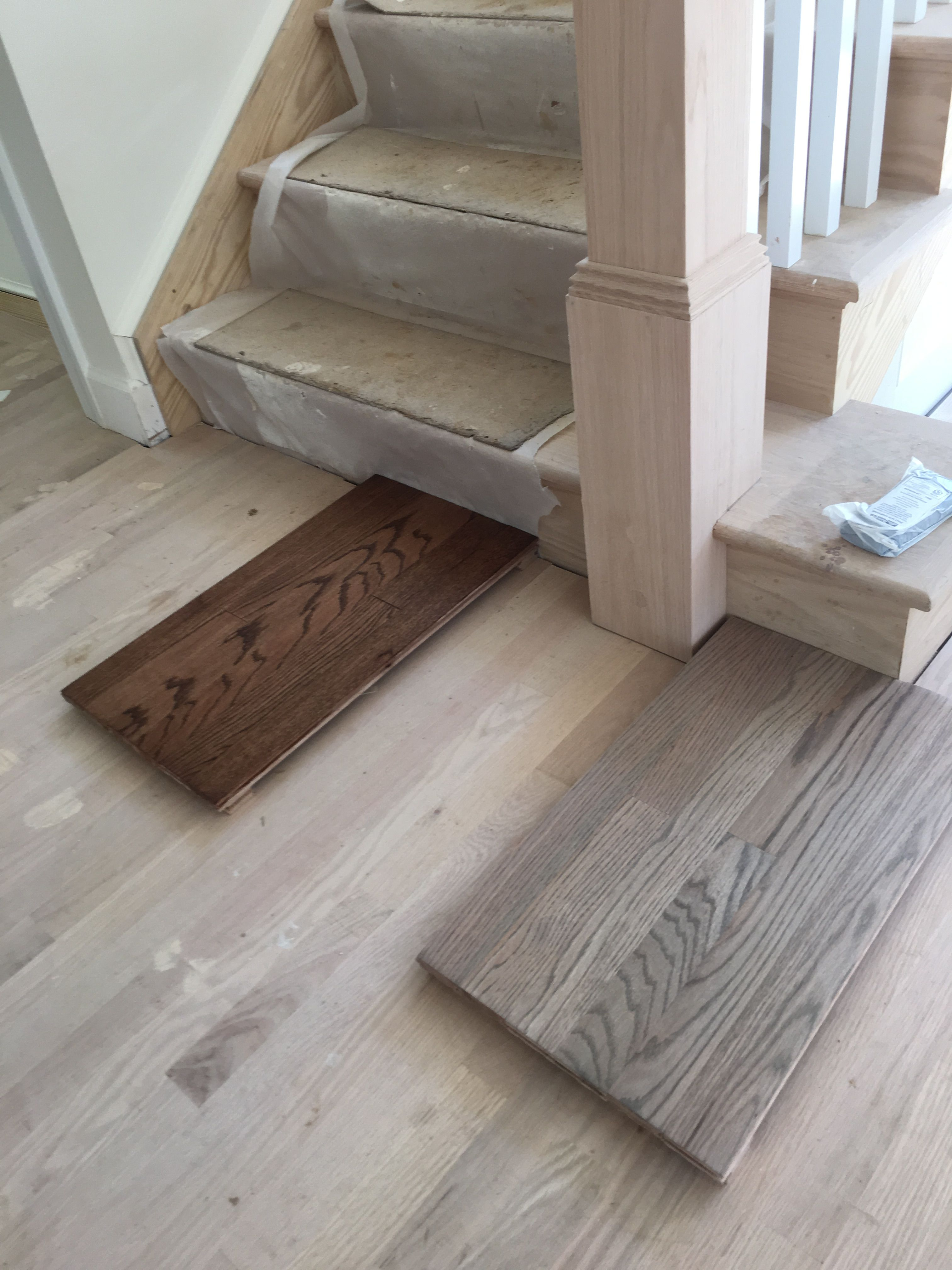 50 50 Minwax Classic Gray And Pickled Oak On Red Oak Sample Plus