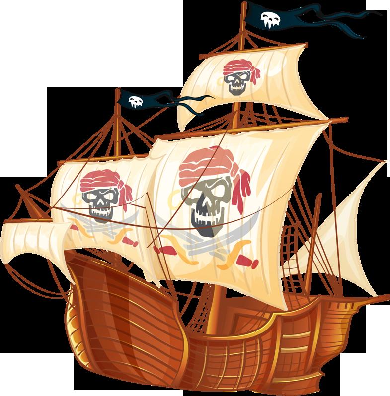 Рисунки и картинки пиратов и пиратские корабли