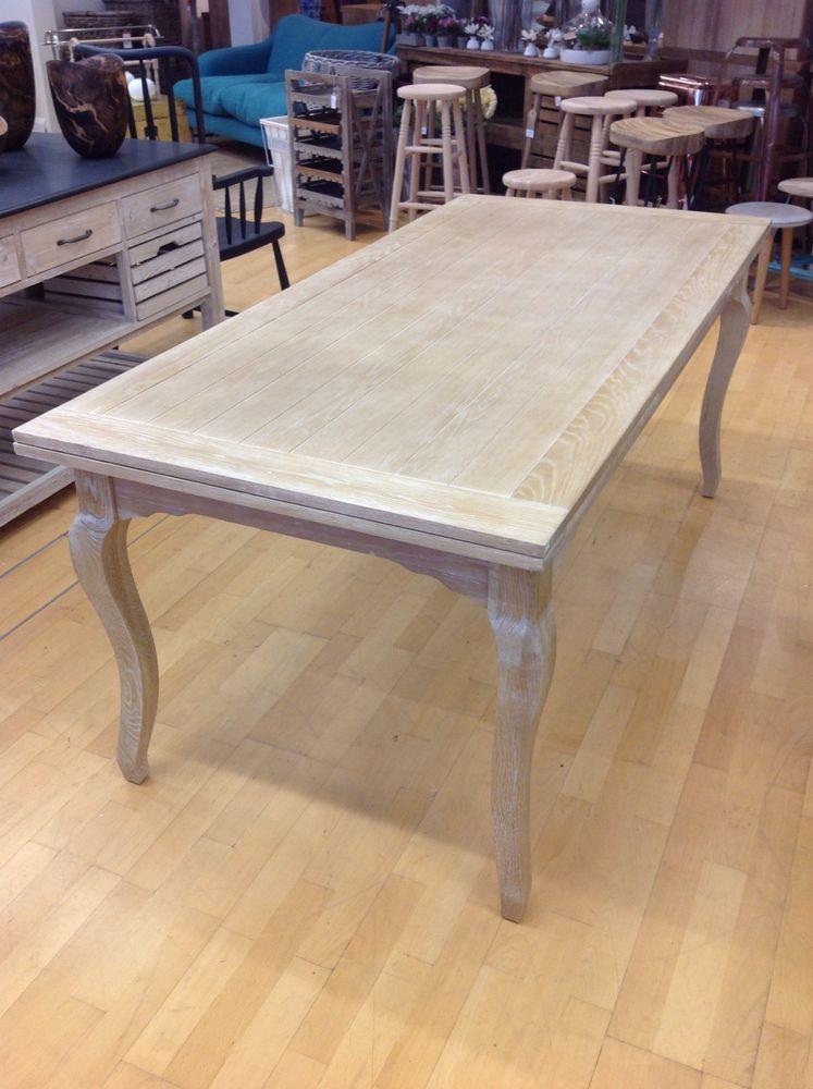 Designer Brand Weathered Oak Extending Dining Table Large 180cm