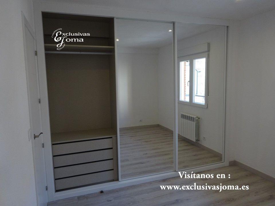 Realizaci n de armario con puertas correderas con sistema - Armario con espejo ...