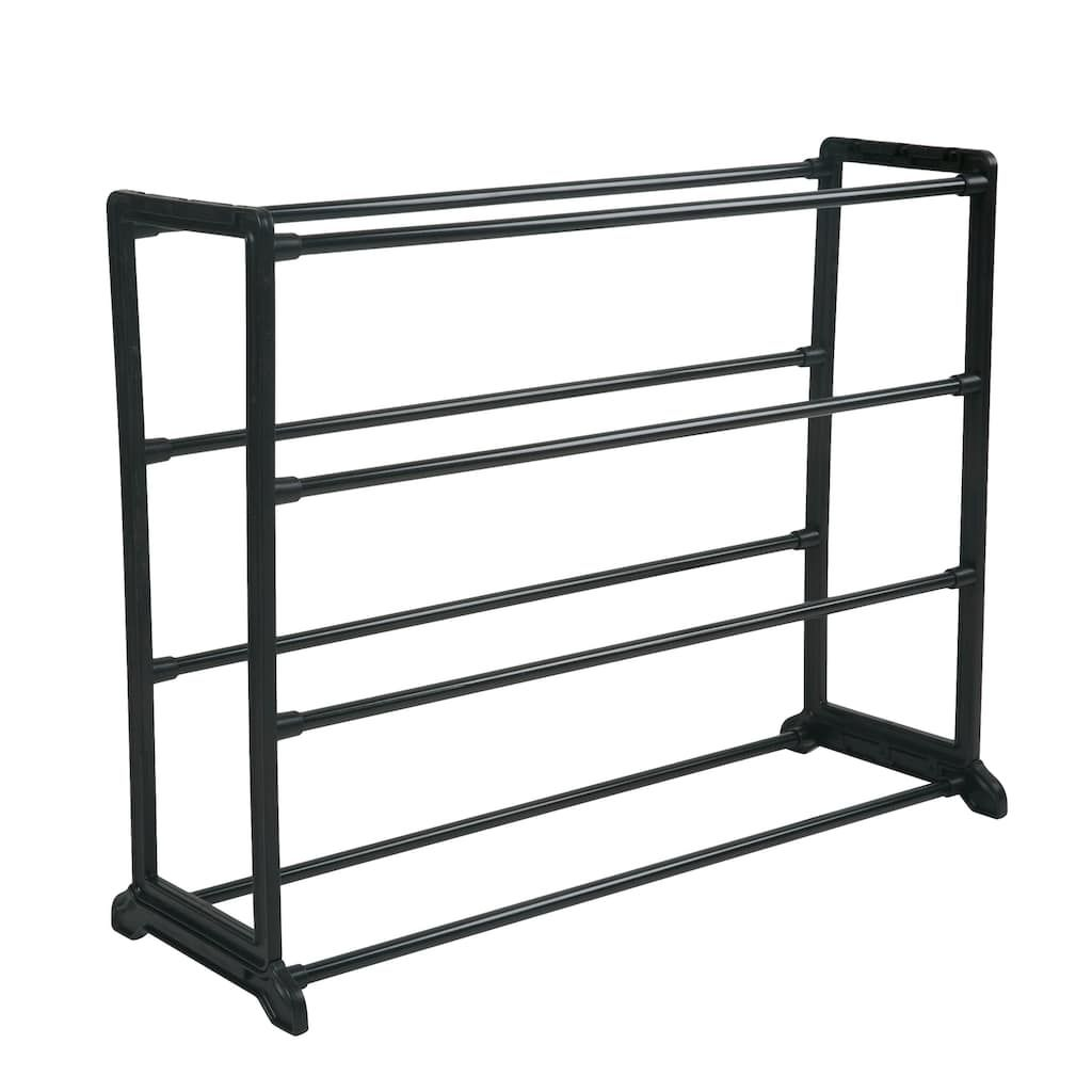 Simplify 12 Pair Stackable Shoe Rack Black Stackable Shoe Rack Black Shoe Rack Shoe Rack