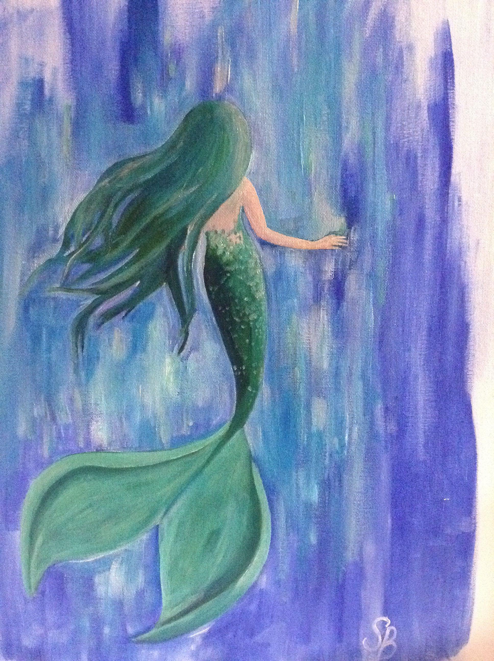 Mermaid Acrylic Painting Mermaid Paintings Canvas Mermaid Painting Mermaid Paintings Acrylic