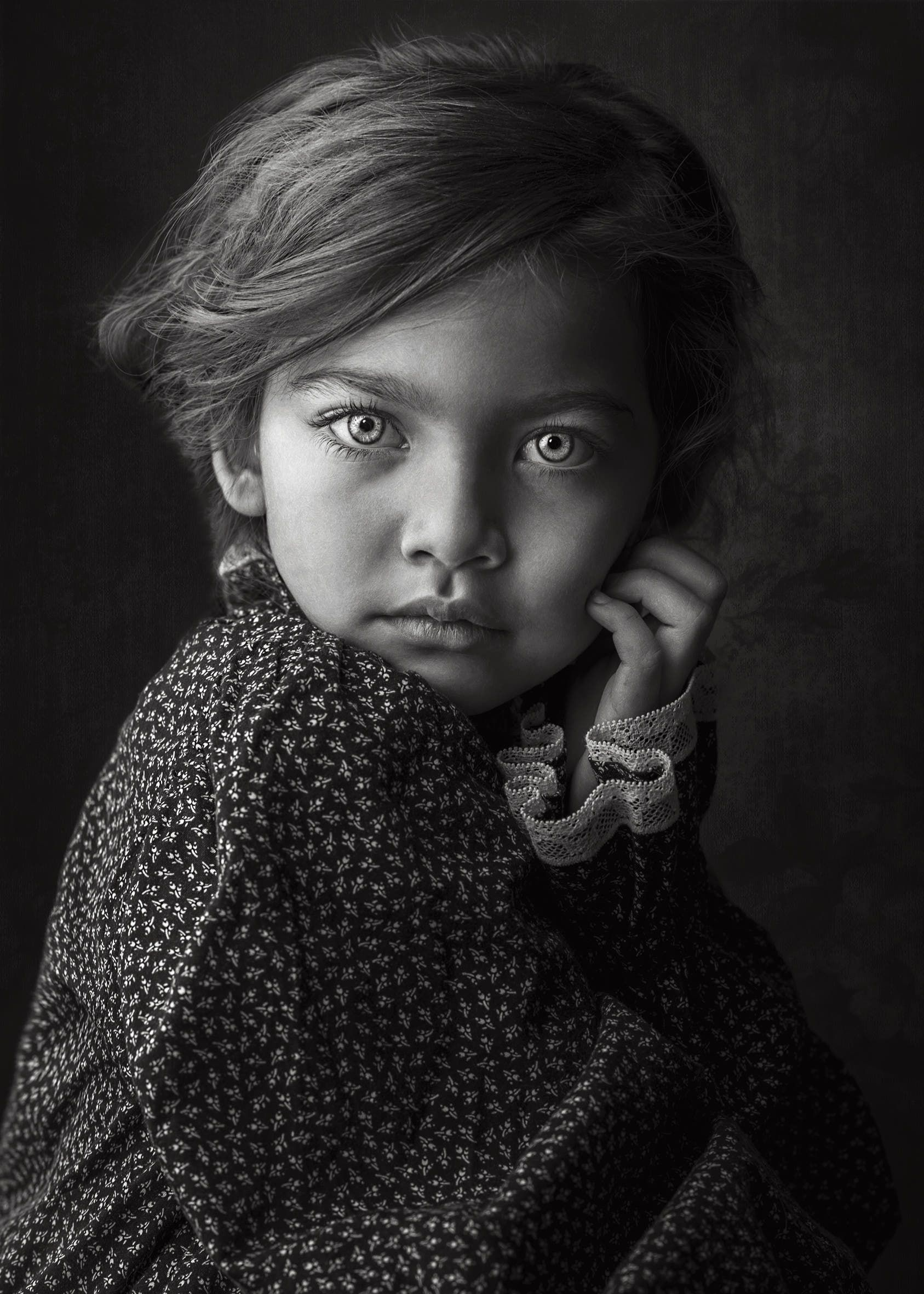 Children portrait portrait photography paintings black and white