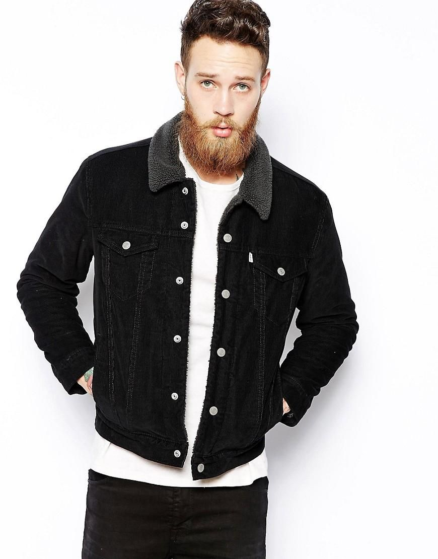 f15fd702 Levis | Levis Cord Jacket Type 3 Trucker Jacket Fully Lined Sherpa at ASOS