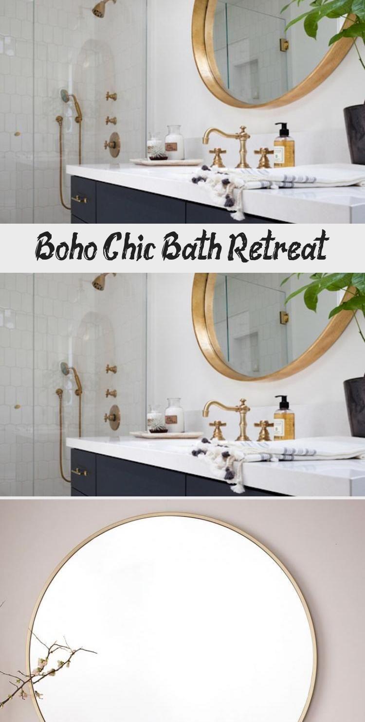 Photo of Boho Chic Bath Retreat – Bathroom  Boho Chic Bath Retreat – Gold Bathroom Fixt…