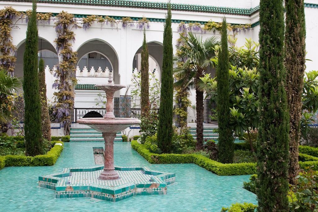 Courtyard at the Mosque of Paris