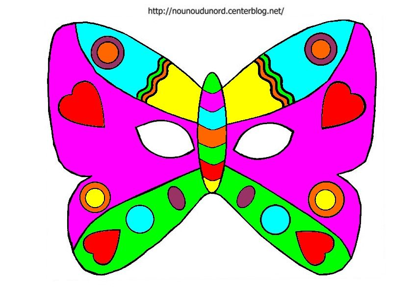 Masques imprimer class s par ordre alphab tique - Masque papillon carnaval ...
