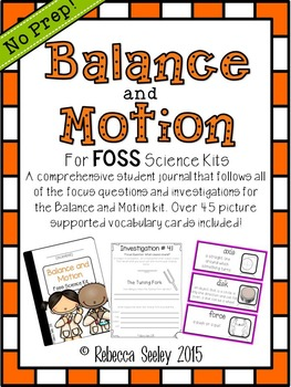 foss balance and motion a kids friendly science journal science rh pinterest com Balance and Motion Lessons 2nd Grade Balance and Motion