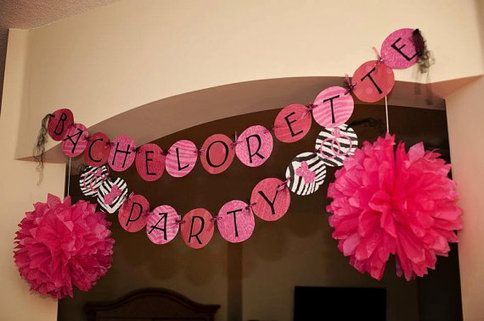 Bachelorette banner on pinterest nautical bachelorette for Bachelorette party decoration ideas