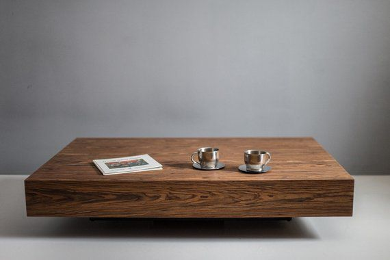 Modern Low Profile Square Coffee Table Wood Colors Tables Natural