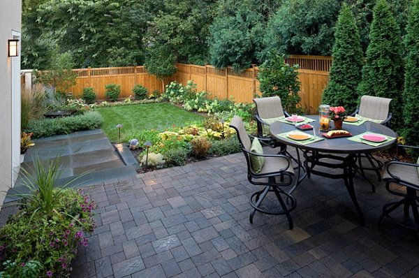 The Art Of Landscaping A Small Yard In 2020 Small Backyard