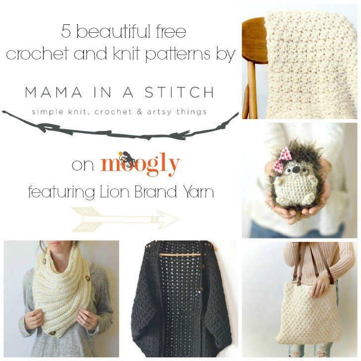 5 Beautiful Free Crochet and Knit Patterns from Mama In A Stitch ...
