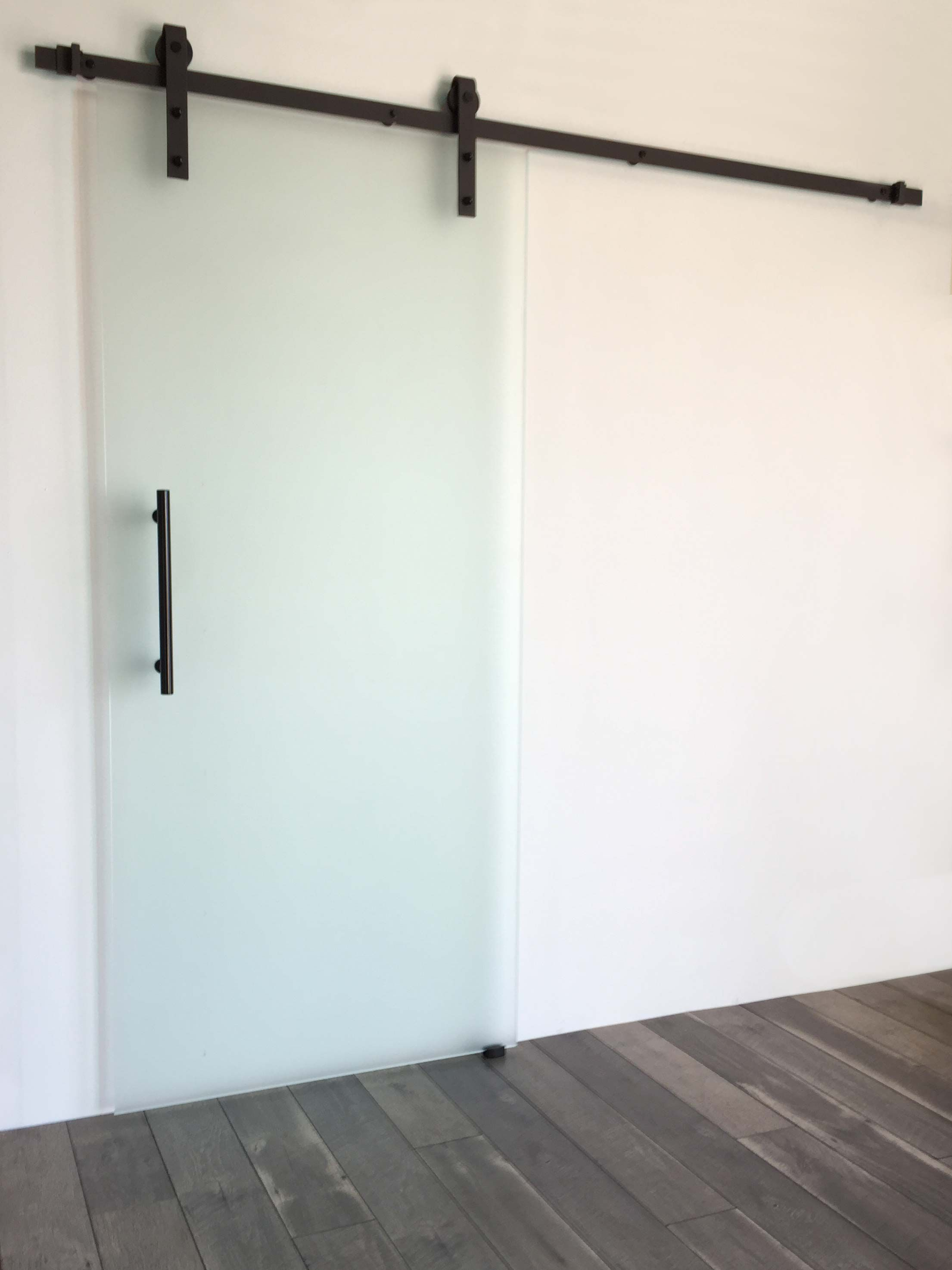 Black Industrial Frameless Single In 2019 Frosted