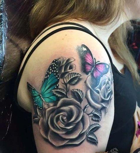 minimalist tatoos #Minimalisttattoos | Tattoos, Rose and butterfly tattoo, Tattoo styles