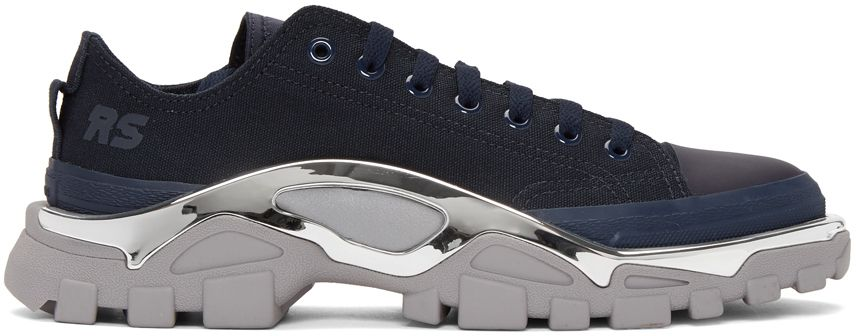 Raf Simons - Navy   Grey adidas Originals Edition RS Detroit Runner Sneakers a0563f71f