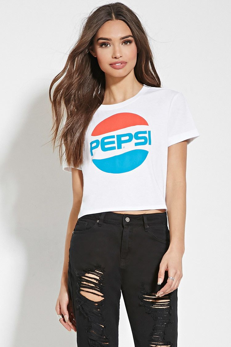 a1c021ad Pepsi Graphic Crop Top. Pepsi Graphic Crop Top Stores Like Forever 21 ...