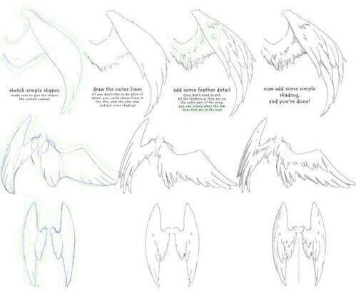 Como Dibujar Tanto Realista Como Anime Anime Amino Dibujo De Alas Alas De Angeles Dibujos Cuaderno De Dibujos De Bocetos