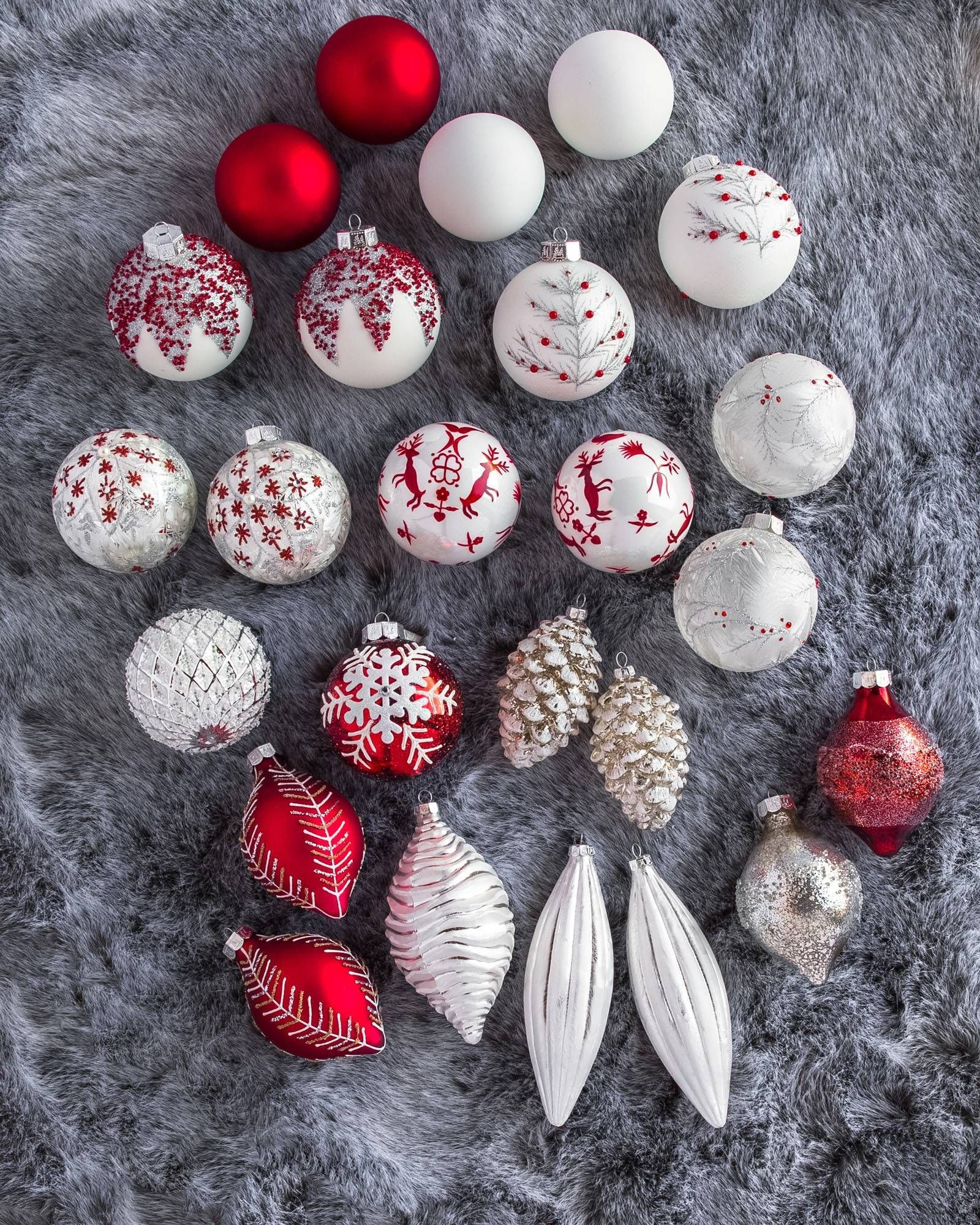 Nordic Frost Ornament Set | White christmas ornaments ...
