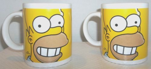The Simpsons Collectible Coffee Mug 2009 Twentieth Century Fox Matt Groening x2