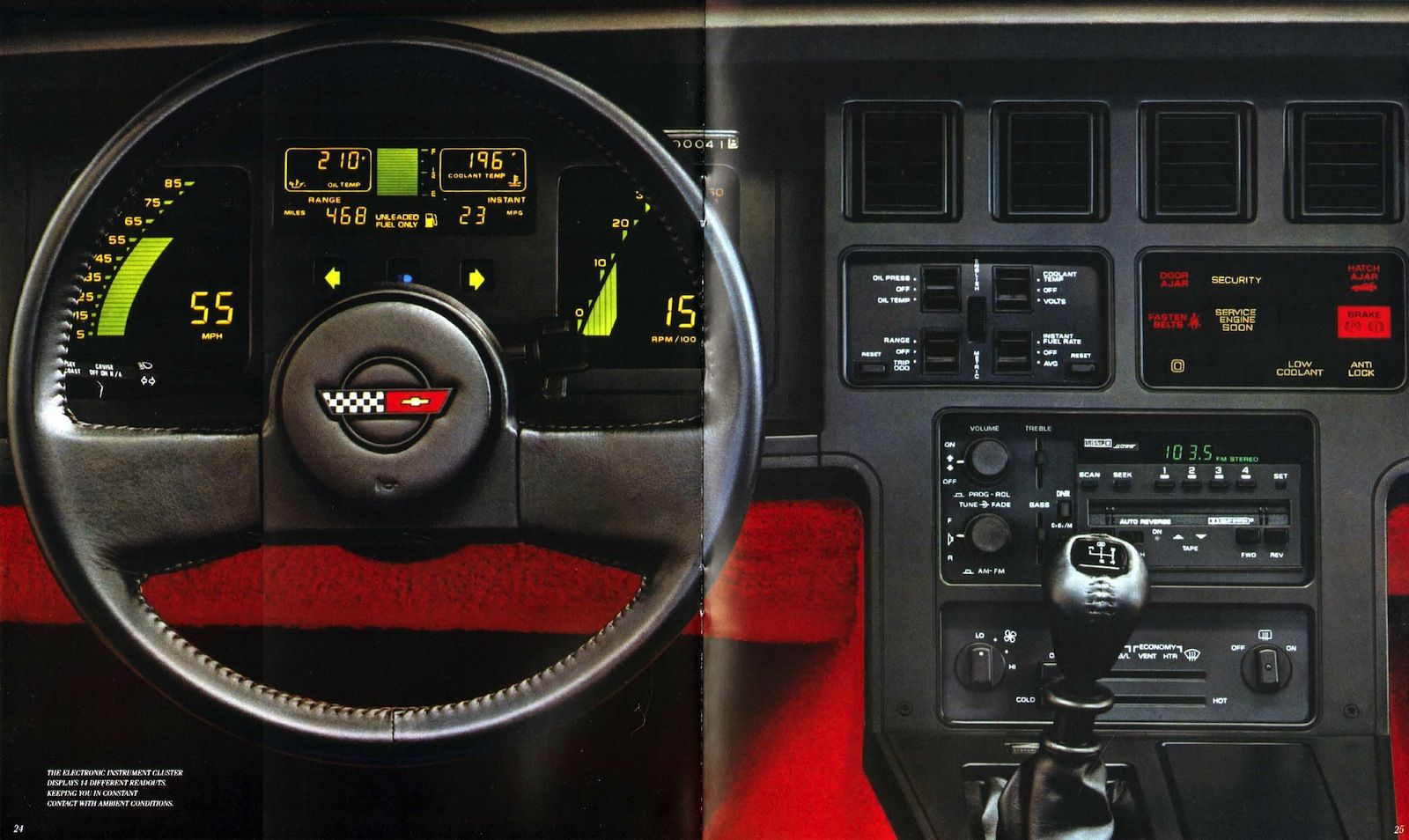 Utterly Bitchen Car Dashboards Inspired By Spaceships Corvette
