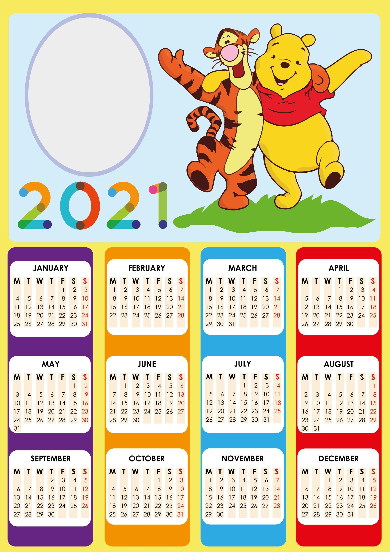 2021 Calendar Jpg Calendar 2021 Winnie The Pooh Calendar for 2021 Cartoon | Etsy in