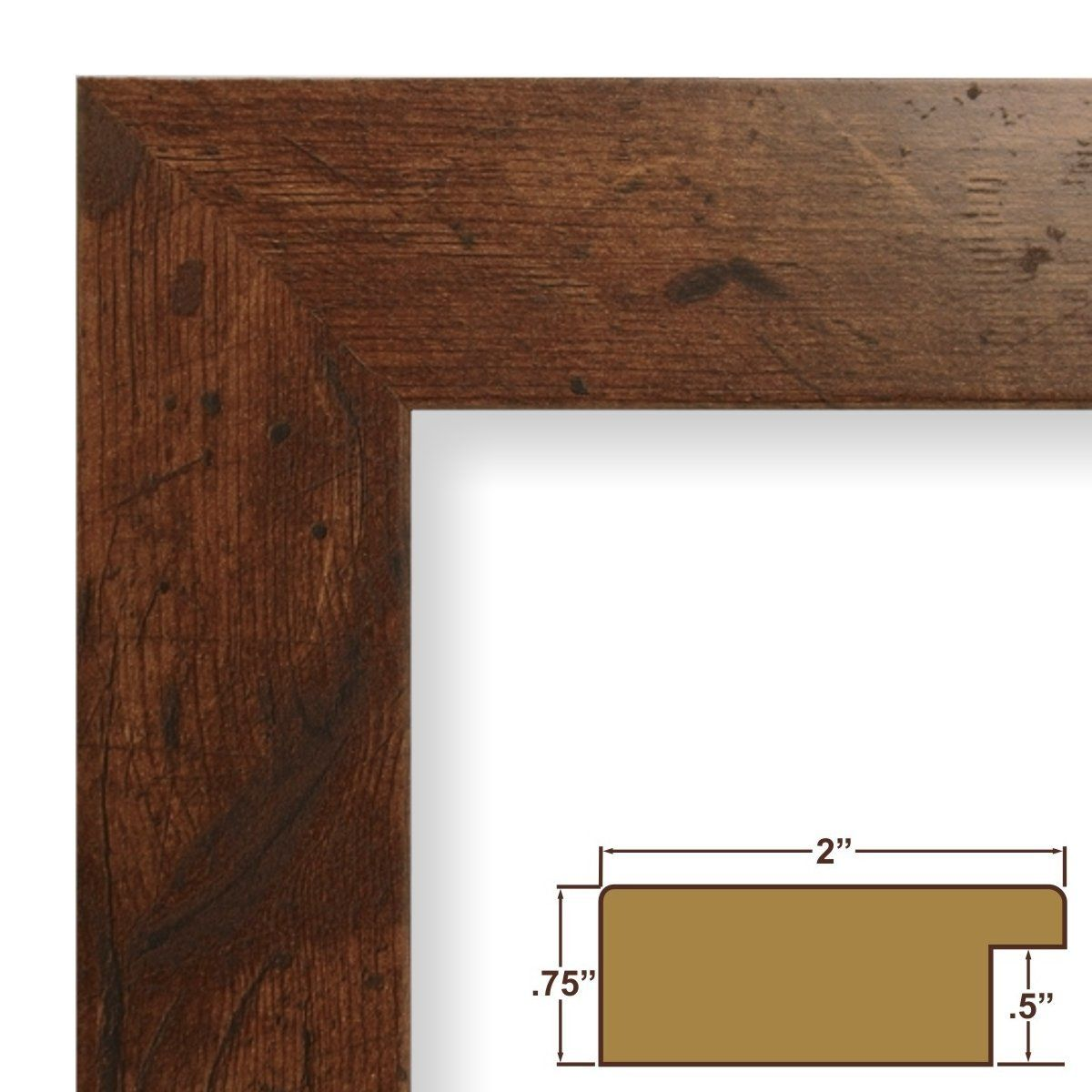 11x17 Poster Frame Smooth Wood Grain Finish 2 Wide Dark Brown Rustic Pine 74004 Poster Contin Craig Frames Custom Picture Frame Rustic Picture Frames