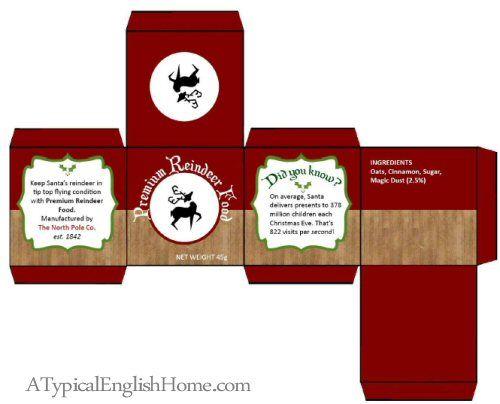 A Typical English Home Santa Cookies And Reindeer Food Printables Diy Christmas Gifts Xmas
