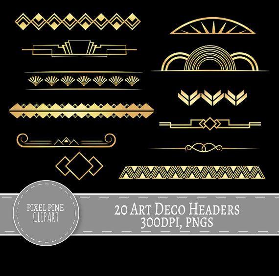 Download Art Deco Divider Collection For Free Art Deco Borders Graphic Design Tutorials Photoshop Art Deco