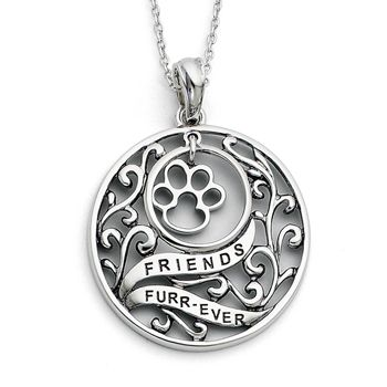 Special Offers Available Click Image Above: Sterling Silver Animal Friend Sentimental Expressions Necklace