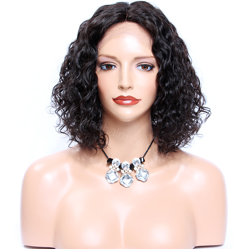 Deep Middle Part Lace Front Wigs Indian Remy Hair | Wowebony ...