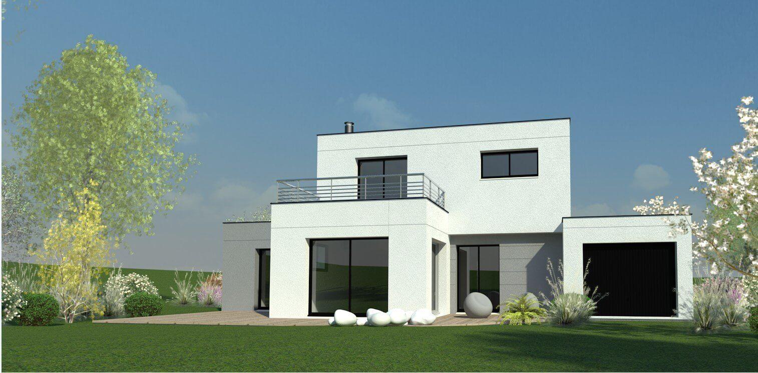 plan maison individuelle 4 chambres 82 habitat concept. Black Bedroom Furniture Sets. Home Design Ideas