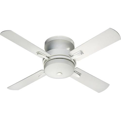Davenport Three Light Studio White 52 Inch Ceiling Fan Hugger Ceiling Fans  Fans