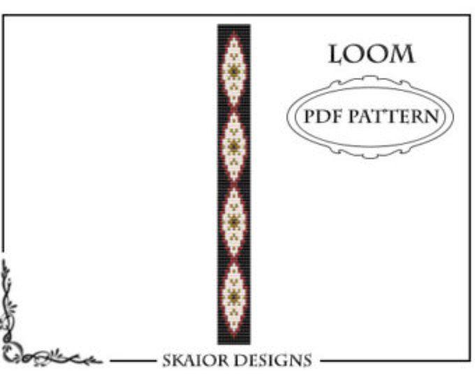 Loom Beading Pattern Loom Bracelet Tribal Geometric Seed