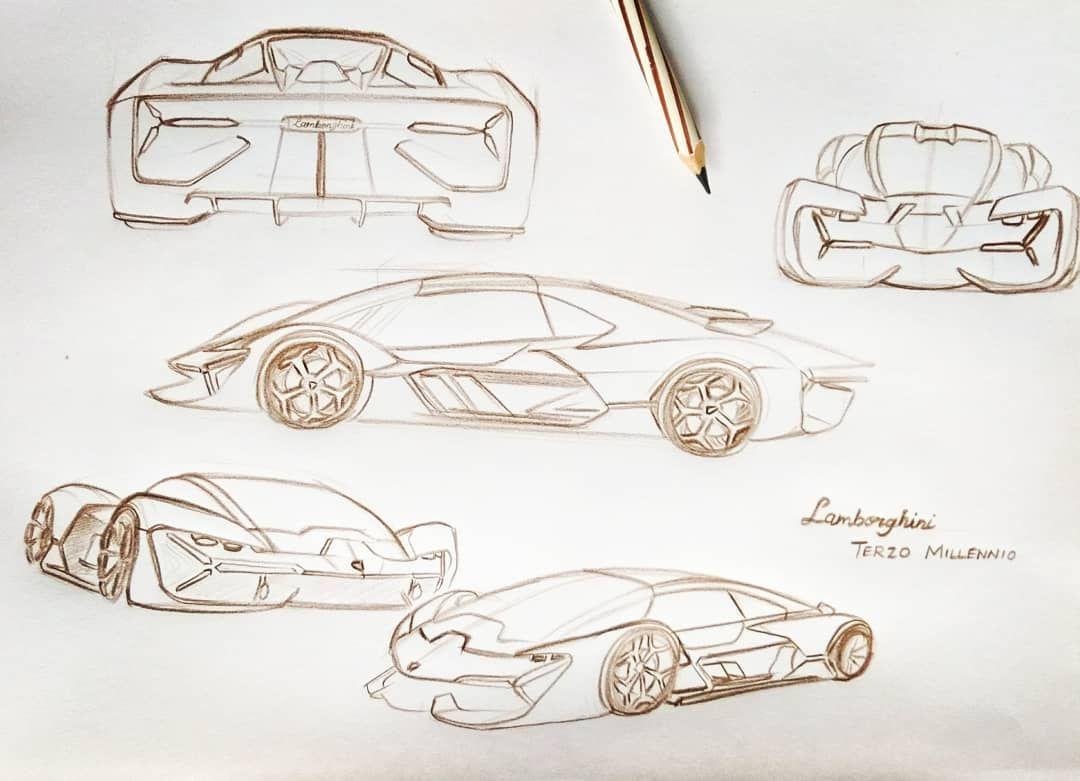 Sketch Of The Day The New Lamborghini Terzo Millennio Amazing