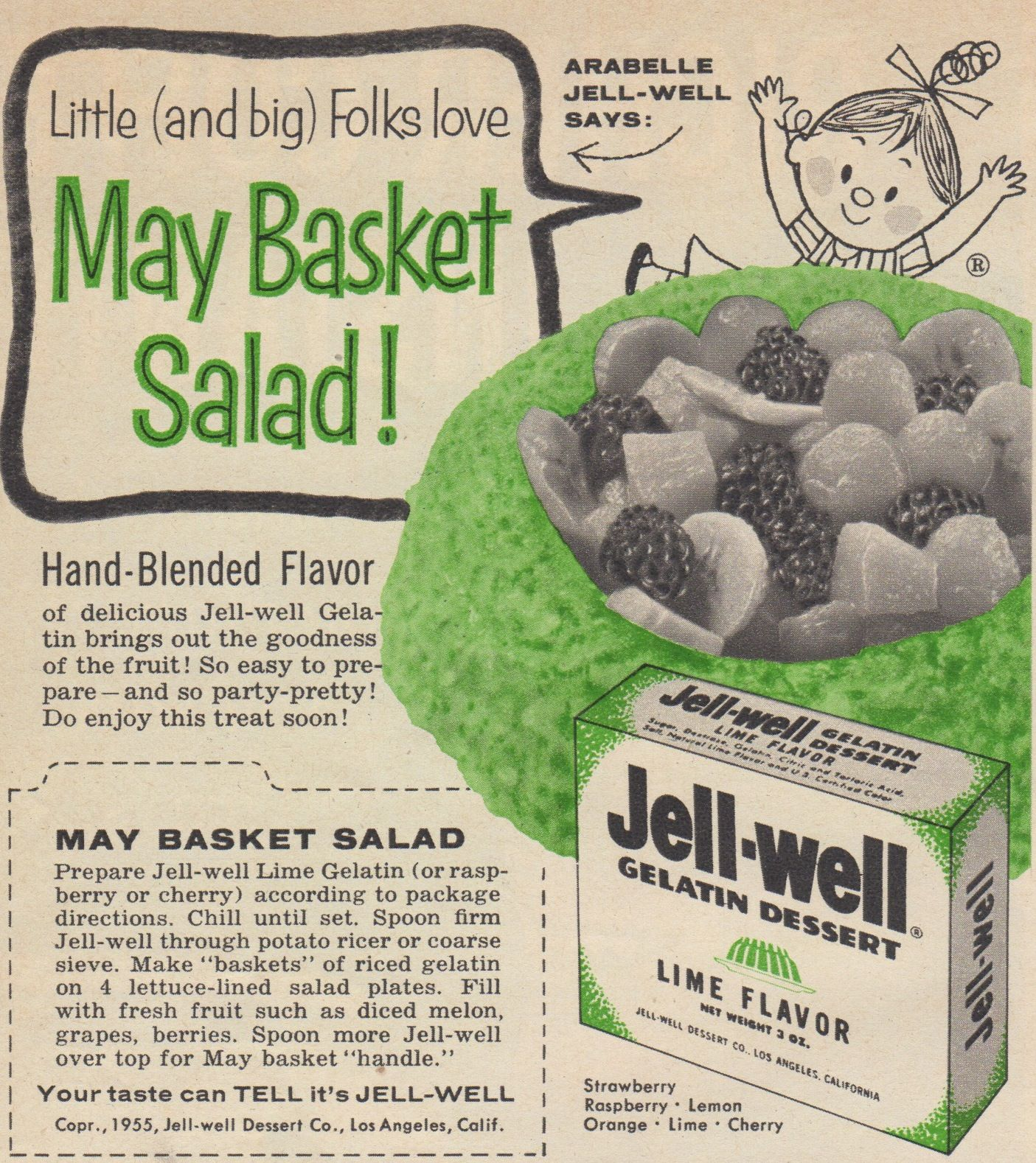 Jell-Well fruit salad from Family Circle, May 1955
