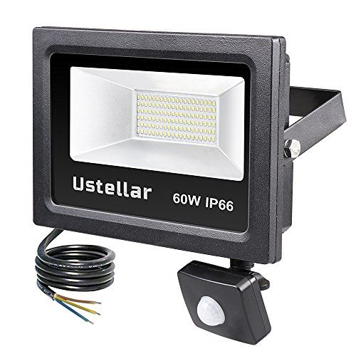 From 2999 ustellar led 60w motion sensor light super bright 4800lm from 2999 ustellar led 60w motion sensor light super bright 4800lm pir floodlight 300 halogen bulb equivalent outdoor security lights ip66 waterpr aloadofball Image collections