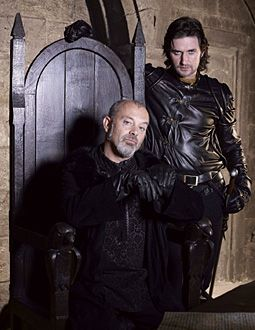 Keith Allen and Richard Armitage (Sheriff of Nottingham and Sir Guy of Gisbourne)