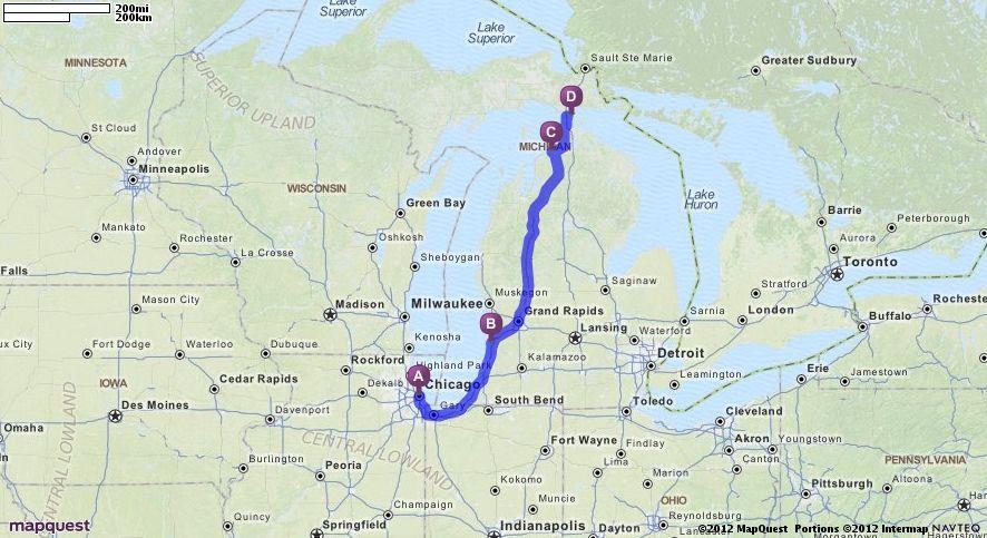 Driving Directions From Chicago Illinois To Mackinac Island In Mackinac Island Michigan Mapquest Mackinac Island Mackinac Mason City