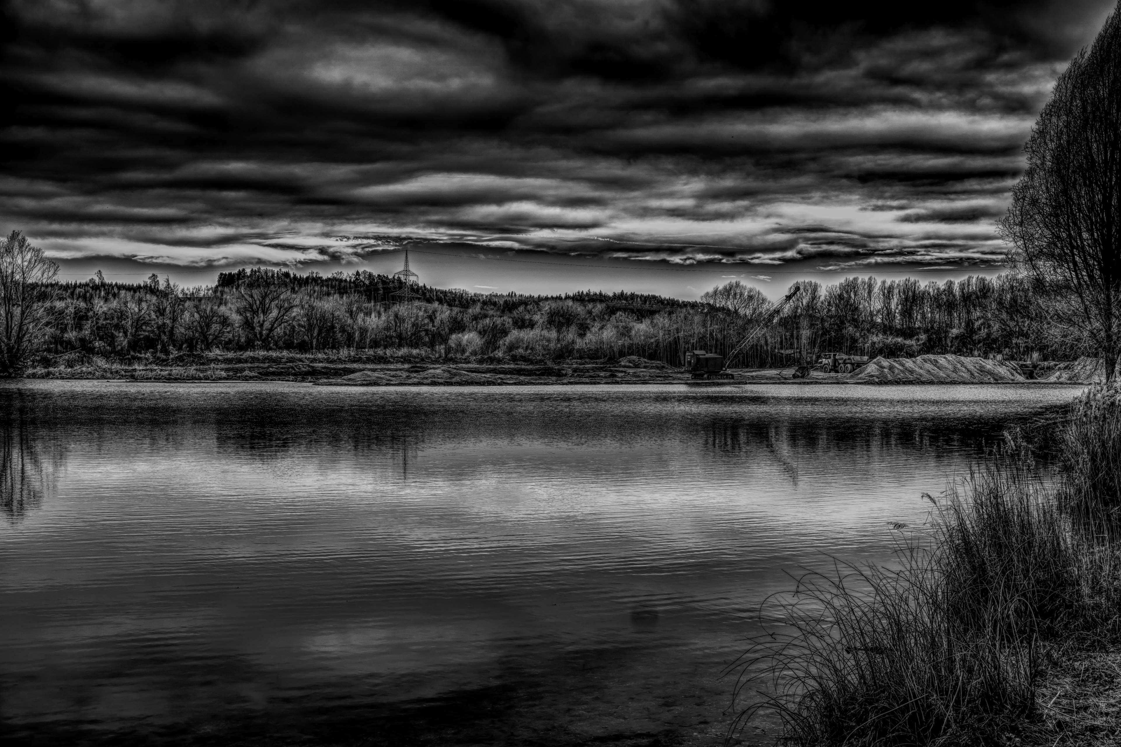 Atmosphere Atmospheric Black White Black And White Clouds Drama Dramatic Dramatic Sky Effective G Low Key Photography Landscape Photography Landscape