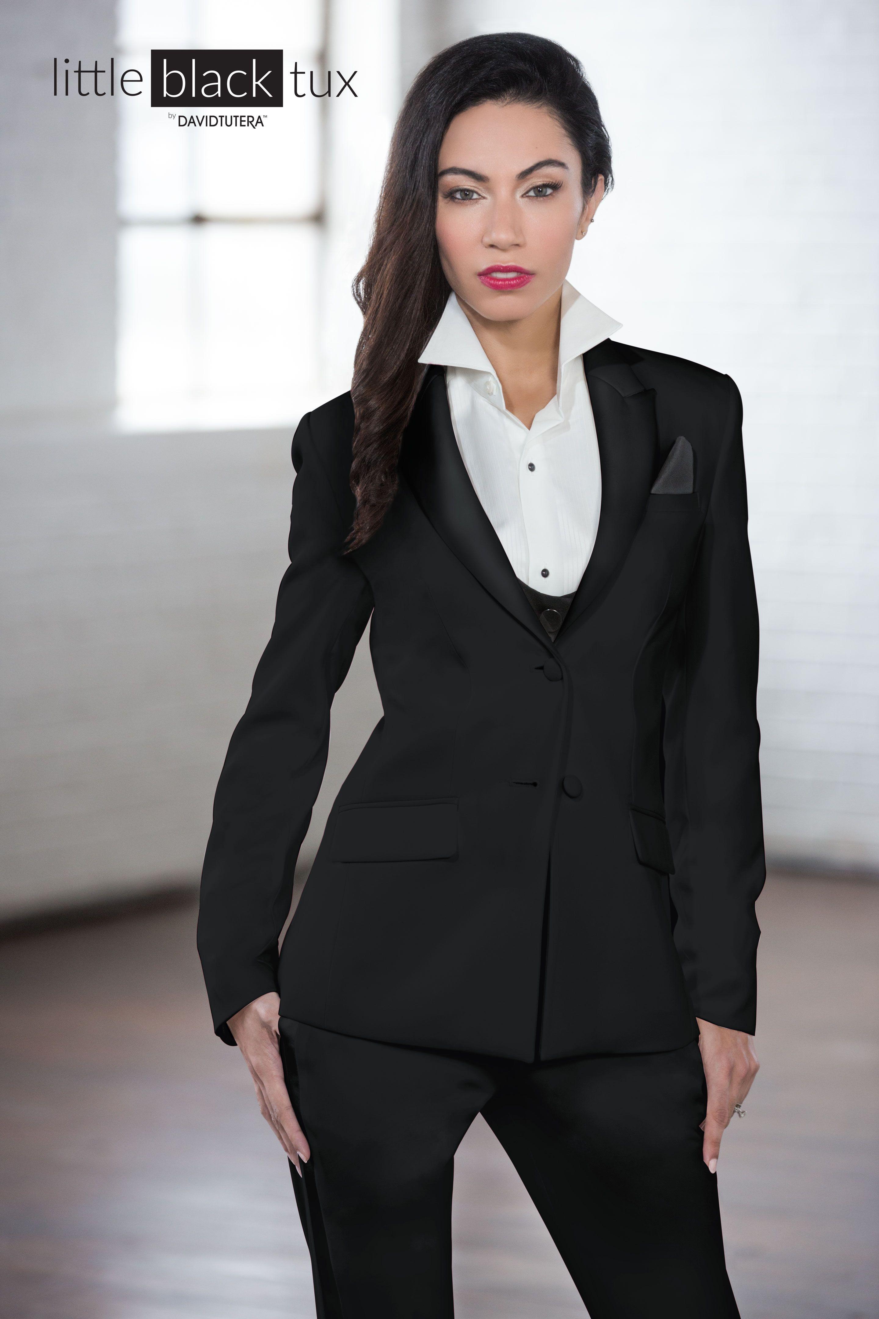 Women\'s Black Tuxedo by David Tutera | Women\'s Tuxedos & Suits ...
