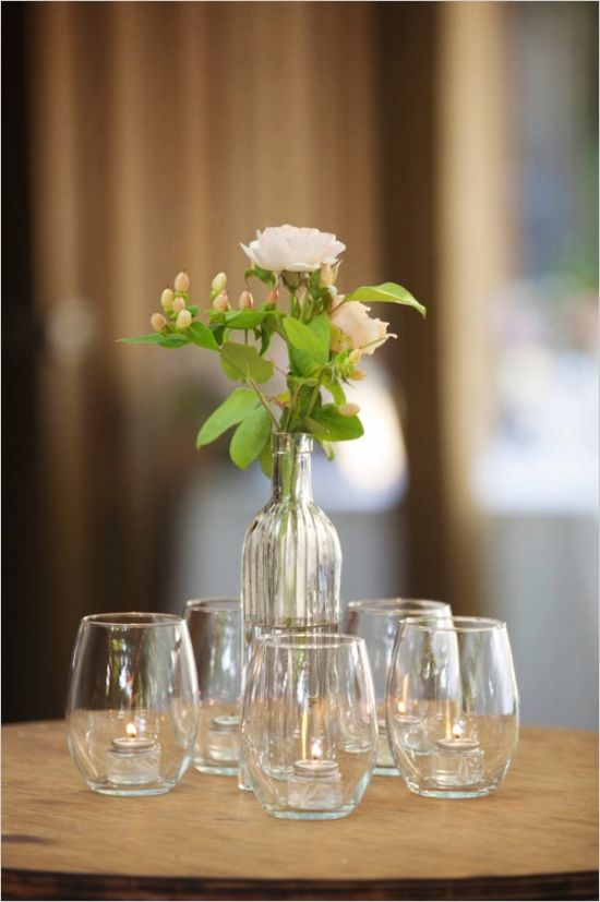 Table Flowers Using Little Vases For Weddings Google Search