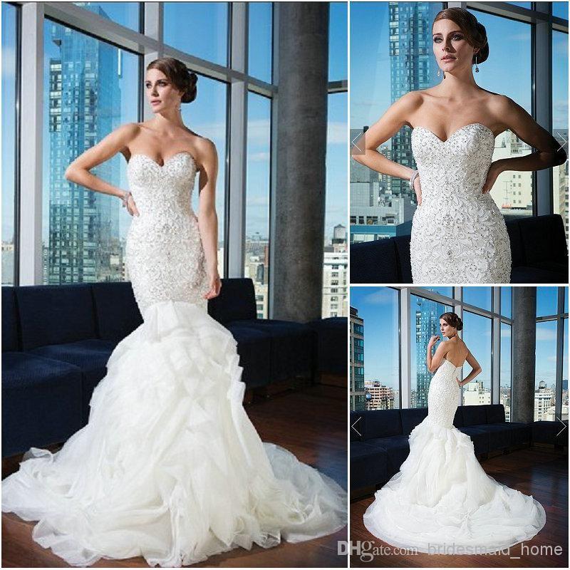 Cheap Justin Alexander Style 9740 Wedding Dresses Ivory Mermaid ...