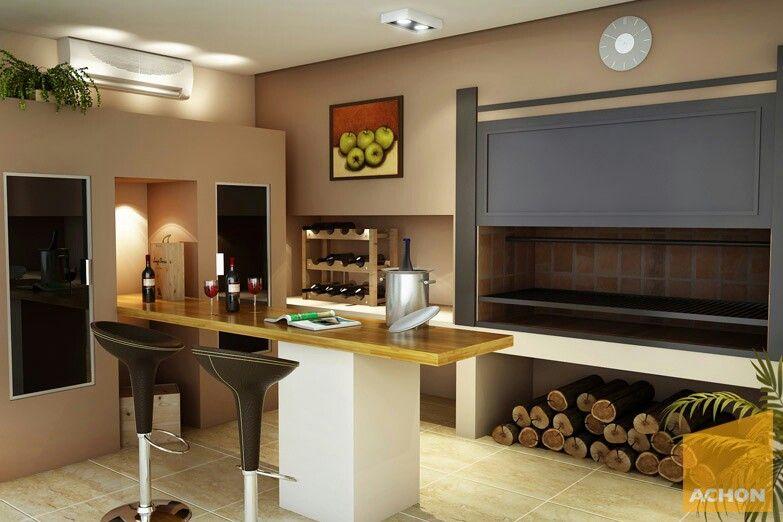 Quincho cerrado moderno buscar con google casa quincho for Casa moderna quincho