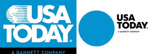 Review Of New Usa Today Logo Design And Old Before And After Comparison Logo Redesign Corporate Logo Logo Design Creative