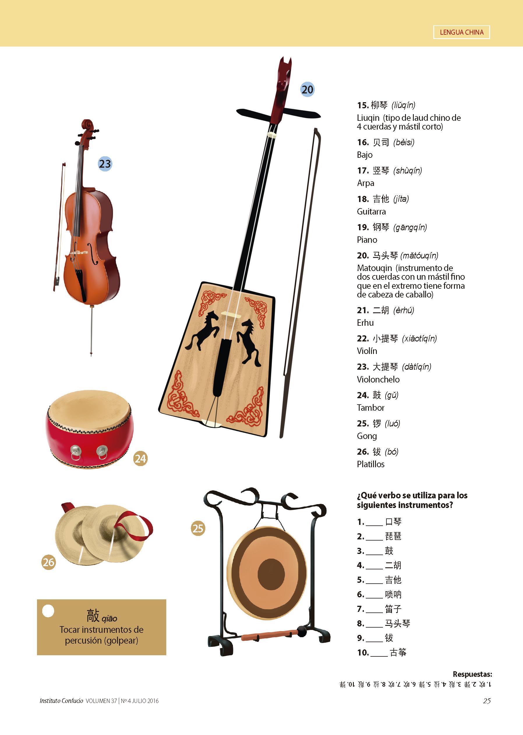 Ejercicios Y Material Didactico Sobre Los Instrumentos