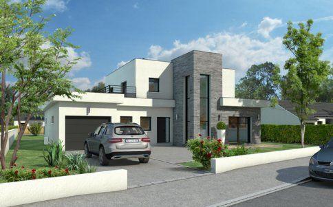 Plan Maison Toit Plat maison toit plat quartz - plan maison architecte   maison moderne